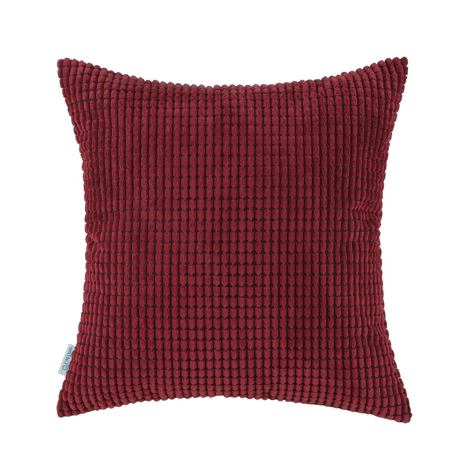 CaliTime Pillow Shells Cushion Covers Solid Soft Corduroy Co