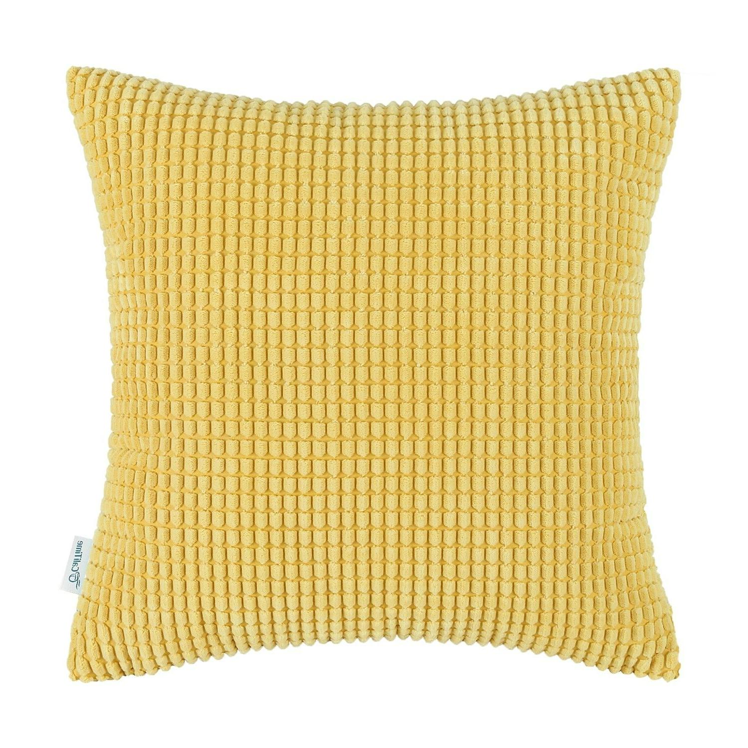 """Covers Solid Soft Corduroy Corn 26"""""""