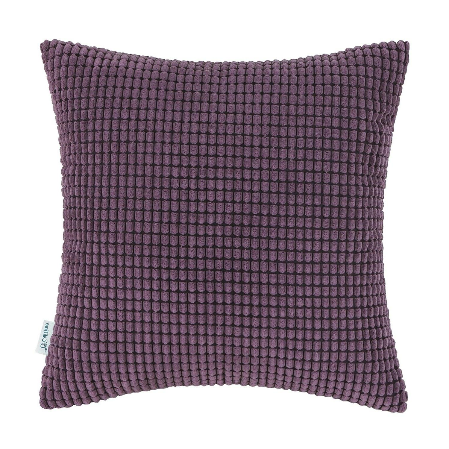 CaliTime Cushion Covers Solid Corn Stripes 22""