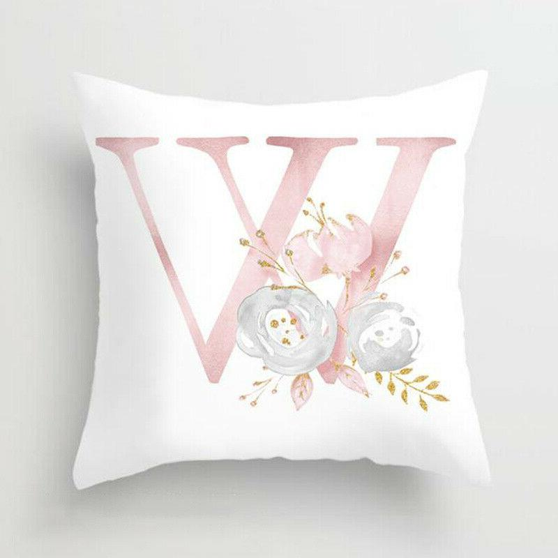 Pink Letter Case Throw Pillowcase