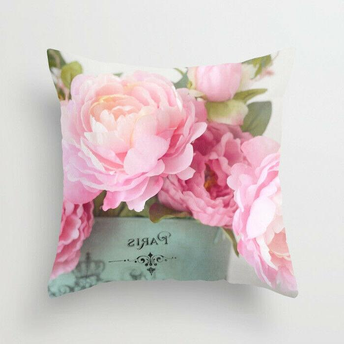 Artificial flower throw case offical cushion cover Decor