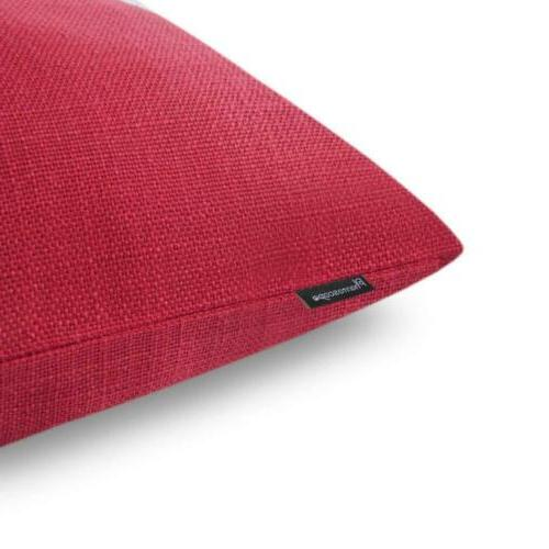 Phantoscope Red Button Decorative Pillow Cushion