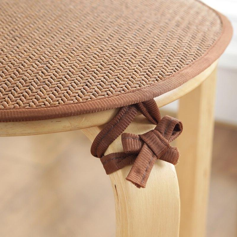 Round Weave Rattan Chair Chairs Pastoral <font><b>Kitchen</b></font>
