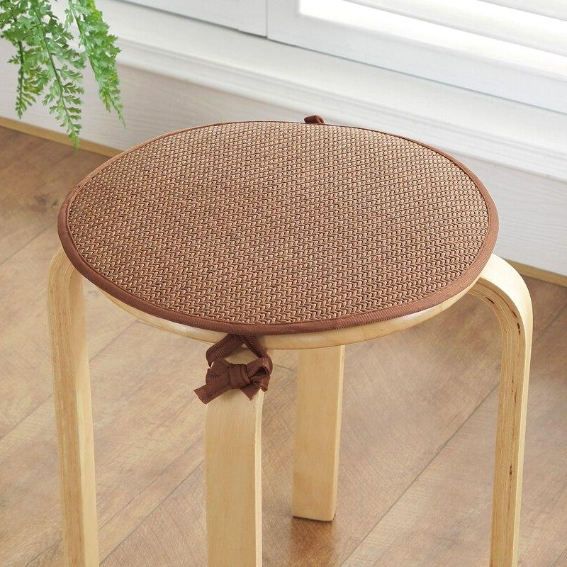Round Rattan Chairs Pastoral Seat <font><b>Pillow</b></font> Cojines