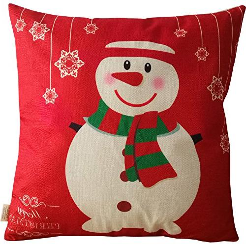 HOSL Merry Christmas Series Linen Throw Pillow Case Cover Pillowcase - of