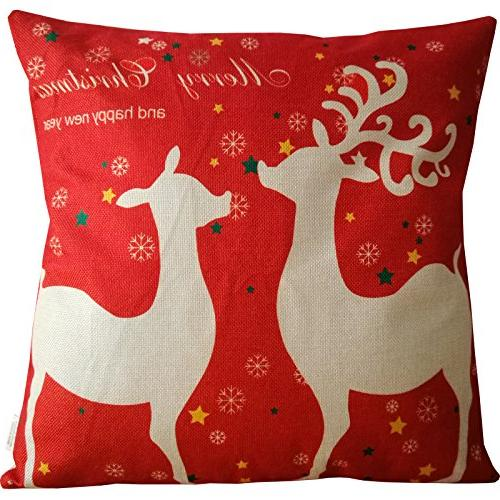 HOSL SD39 Merry Christmas Series Linen Cover Square - of