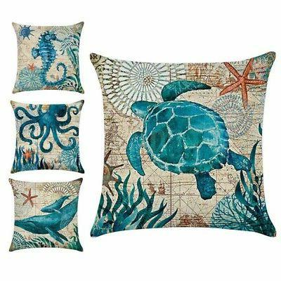 sea life sofa cushion throw pillows marine