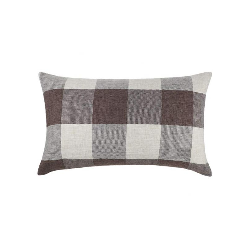 4TH Emotion 2 Brown Plaid Throw Cushion Case