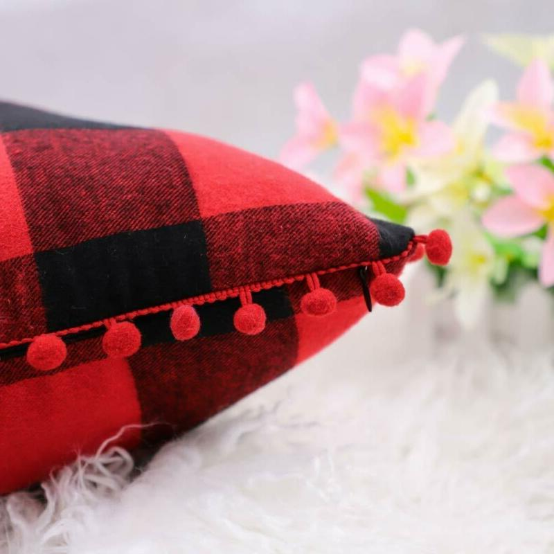 4Th Emotion 2 Christmas Buffalo Check Plaid With Pomp