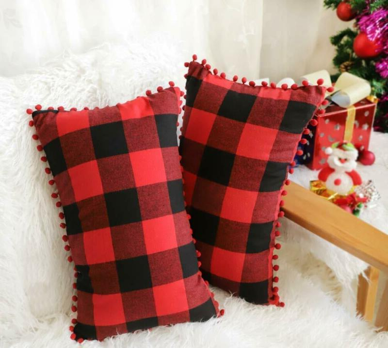4Th 2 Plaid Throw Pillow With