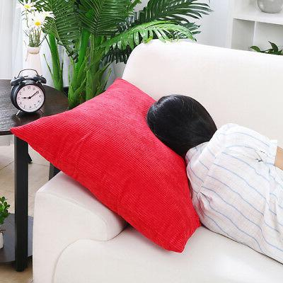 Set Corduroy Cushion Covers Home