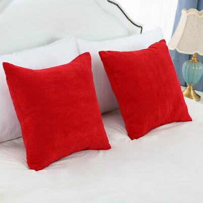 "Square Pillowcase Cushion Cover 18"" x 45"