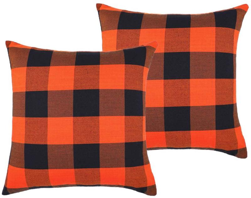 4TH Emotion Set of 2 Fall Halloween Buffalo Check Plaids Thr