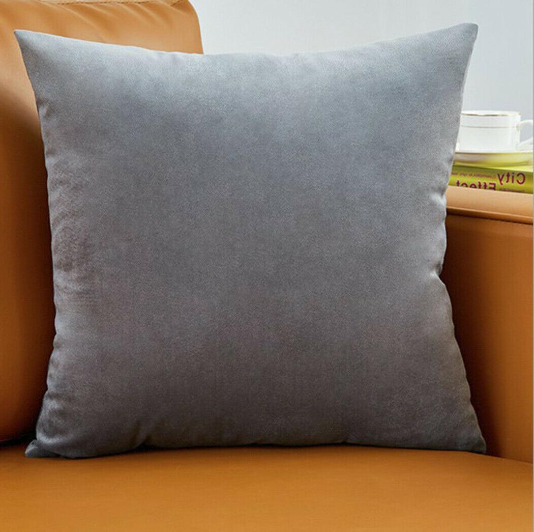 "Set Of Pillow Case 20"" solid colors"