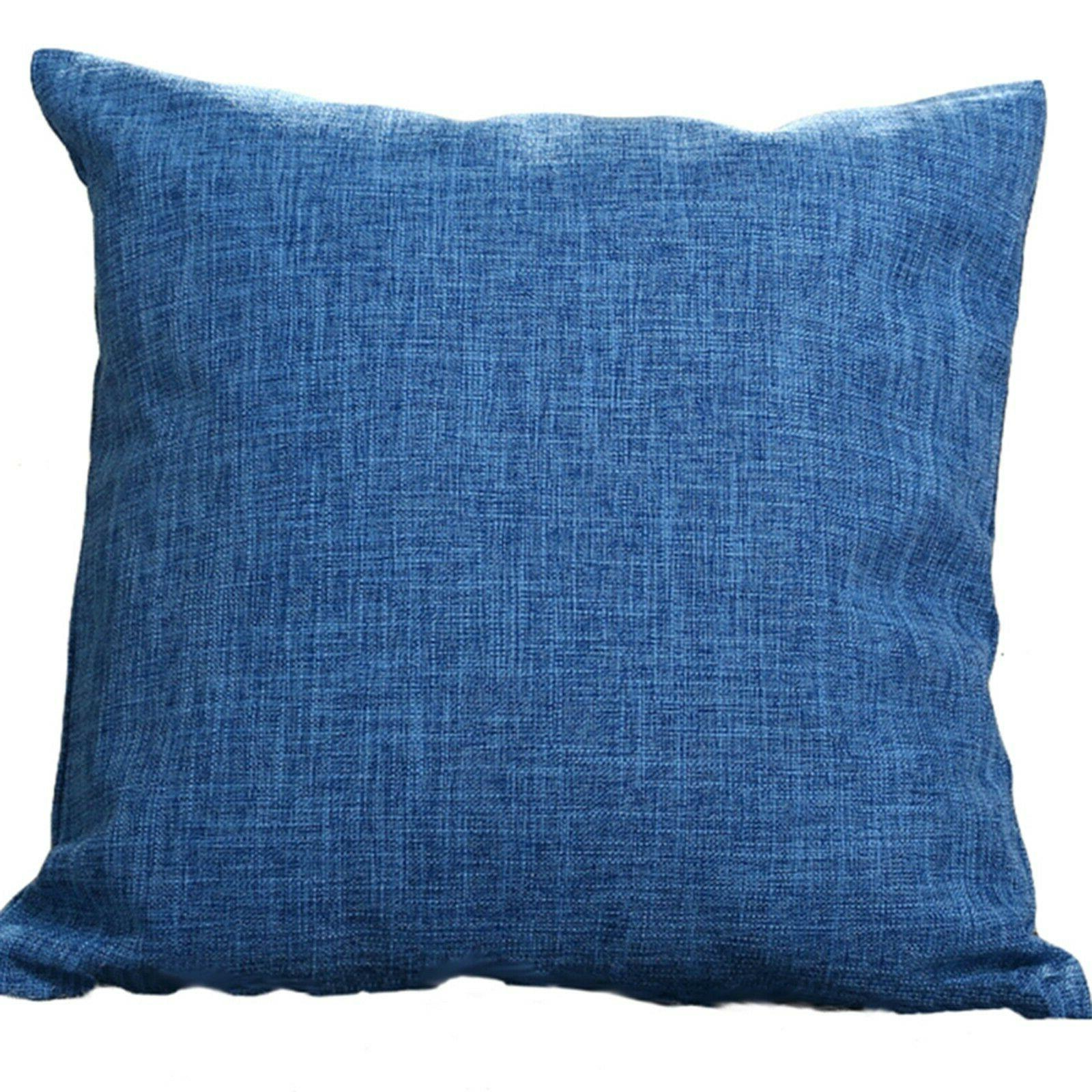 "Set Throw Pillow Cover Case 20"" solid colors"