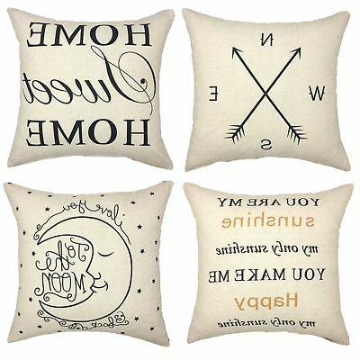 set of 4 decorative throw pillow cover