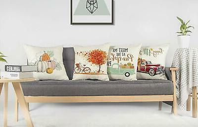 4TH Emotion Set 4 Throw Pillow Covers Truck Maple