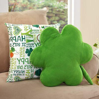 shamrock throw pillow set for st patrick