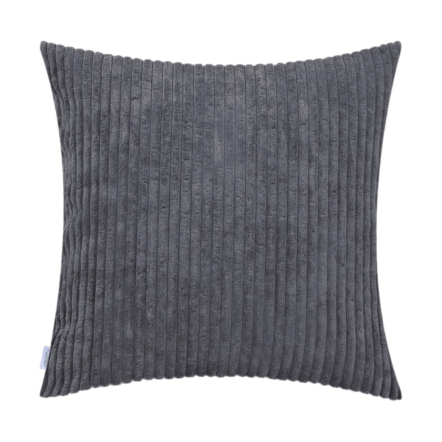 """CaliTime Soft Corduroy Cushion Covers Covers Cases 18x18"""""""