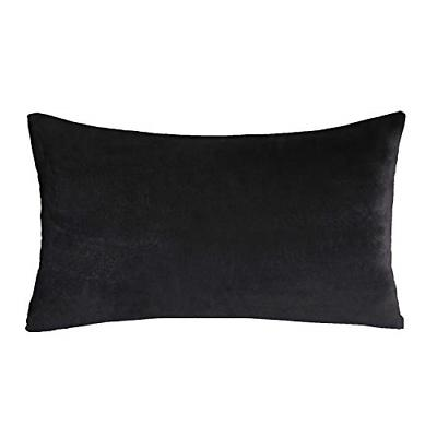 Phantoscope Soft Cozy Velvet Throw Pillow Solid Square Cushi