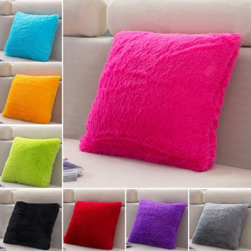 Fluffy Plush Cases Sofa Car Throw Cover