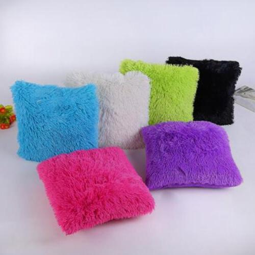 Fluffy Plush Soft Cases Sofa Car Throw Cover Bed Home