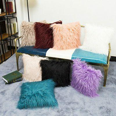 Home Decor Square Plush Throw Pillow Pillowcase