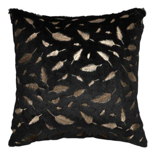 Soft Throw Fur Leaves Couch Bed Covers
