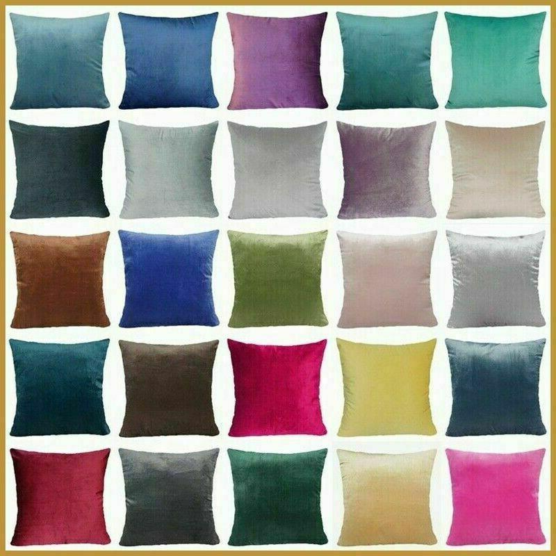 soft velvet solid multi color throw pillow