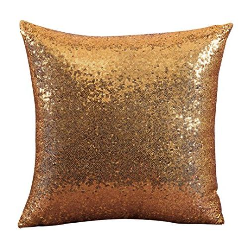solid glitter sequins throw pillow