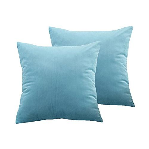 solid velvet throw pillow covers