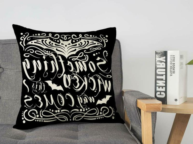 4TH Something Wicked Chalkboard Throw Cover
