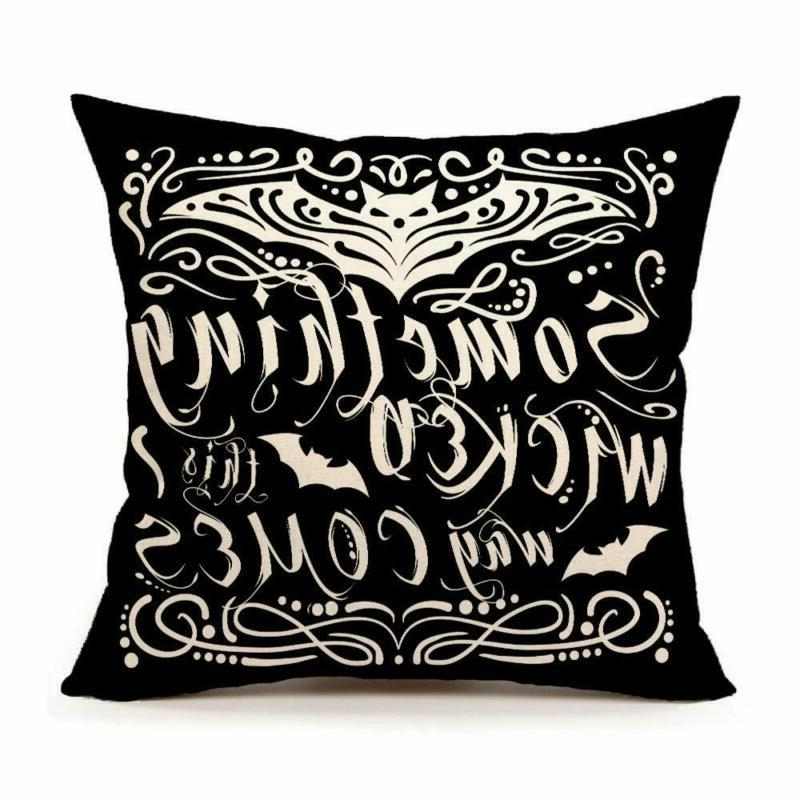 something wicked chalkboard halloween throw pillow cover