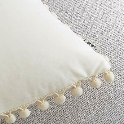 Top Finel Cream Decorative Throw Pillow x 26 Inch