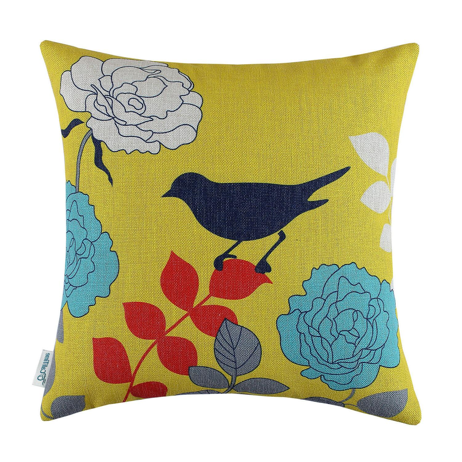 square throw pillows cases cushion covers florals