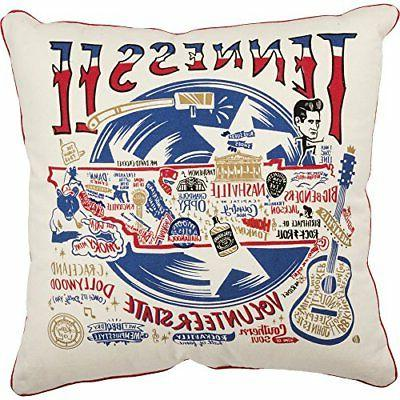 state decorative pillow