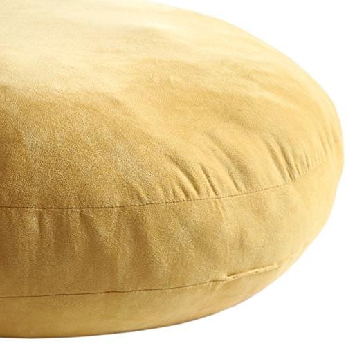 """Hodeco Throw 16x16 Elastic Round Pillows 3D Feather-Like Cushion Decorative for Bed 16"""" 1"""