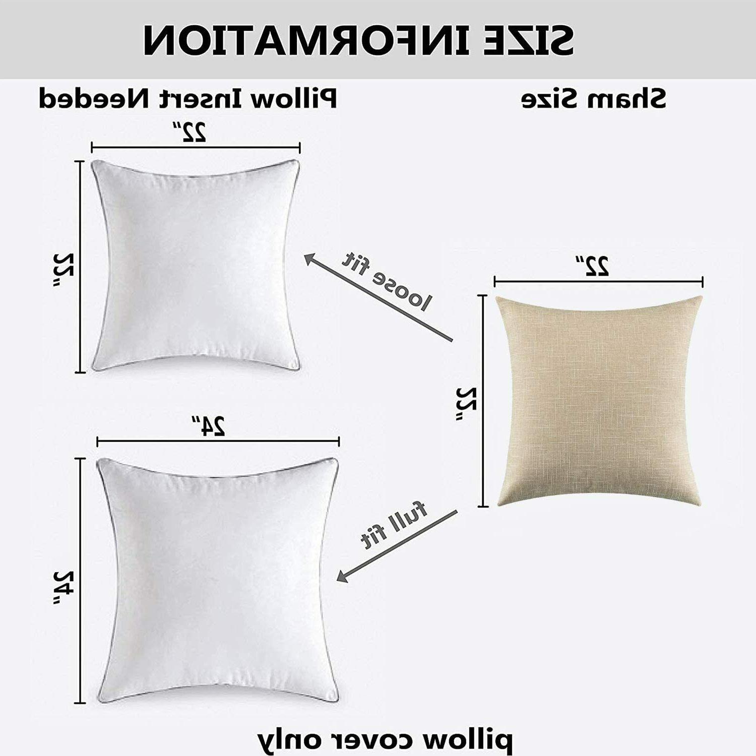 Kevin Textile Faux Linen Throw Pillow Covers for Couch