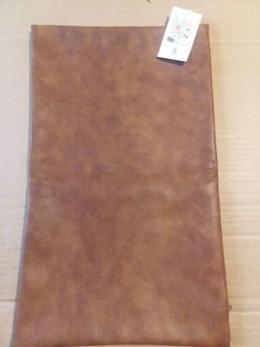 Kdays Thick Faux Leather Pillow Cover Tan for Throw Case