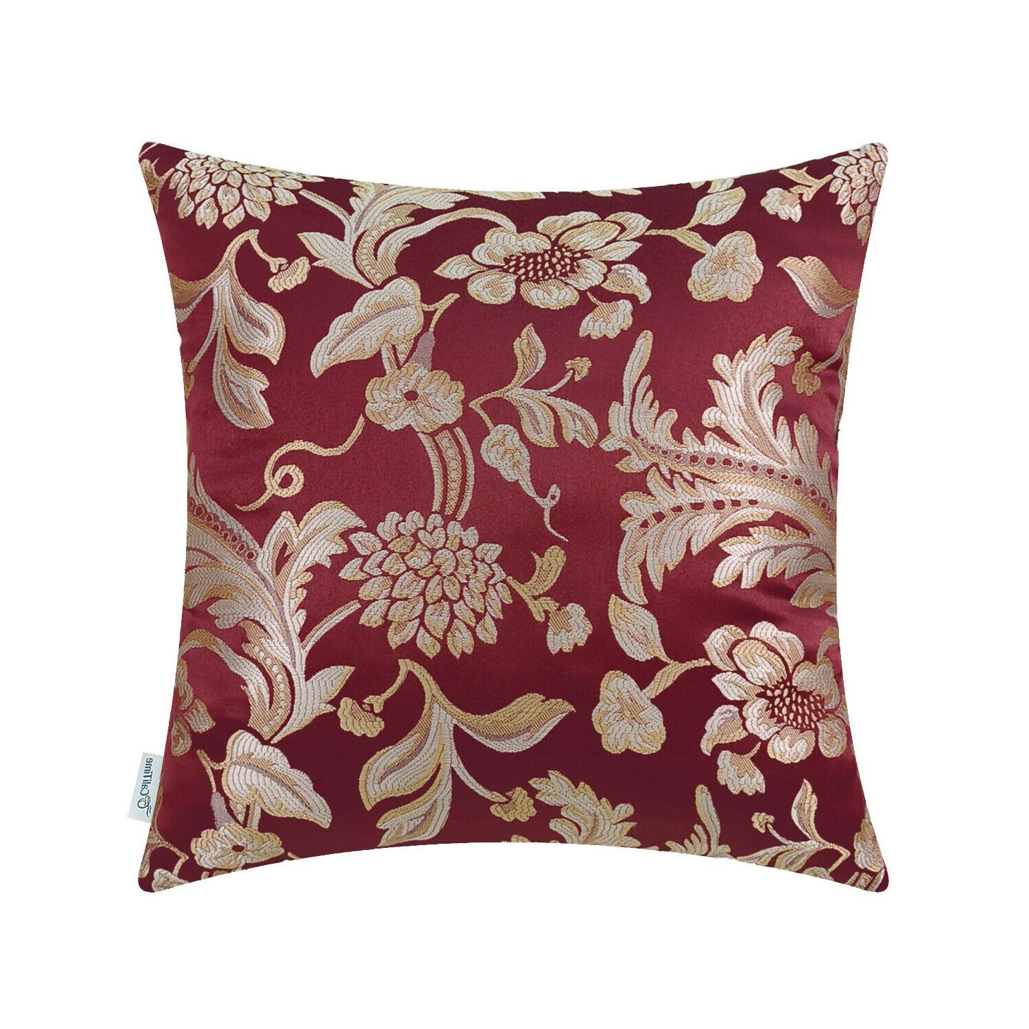 CaliTime Throw Pillows Cushion Covers Shells Case Florals Ho