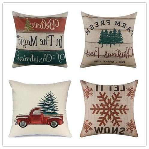 throw pillow cover farmhouse merry