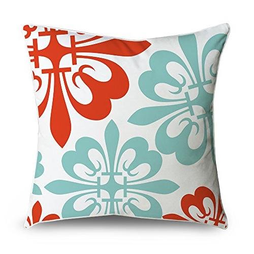 throw pillow cover flowers red