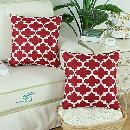 throw pillow covers 18x18 pack of 2