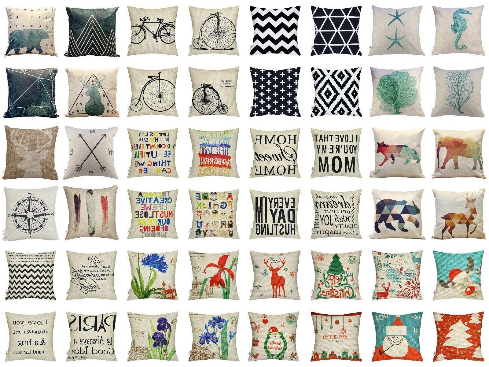 throw pillow covers 18x18 pillow cases 4pcs