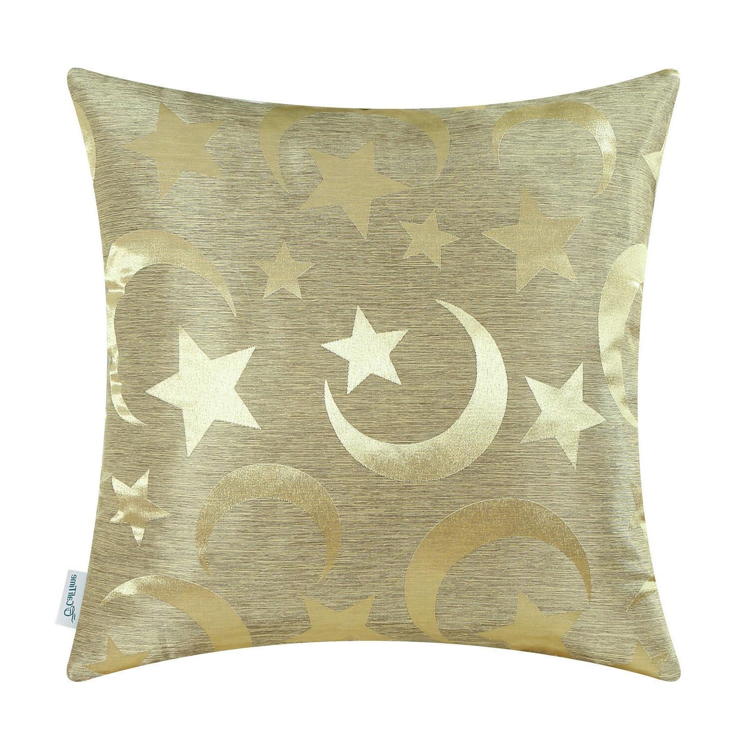 CaliTime Throw Pillow Covers Home Moon