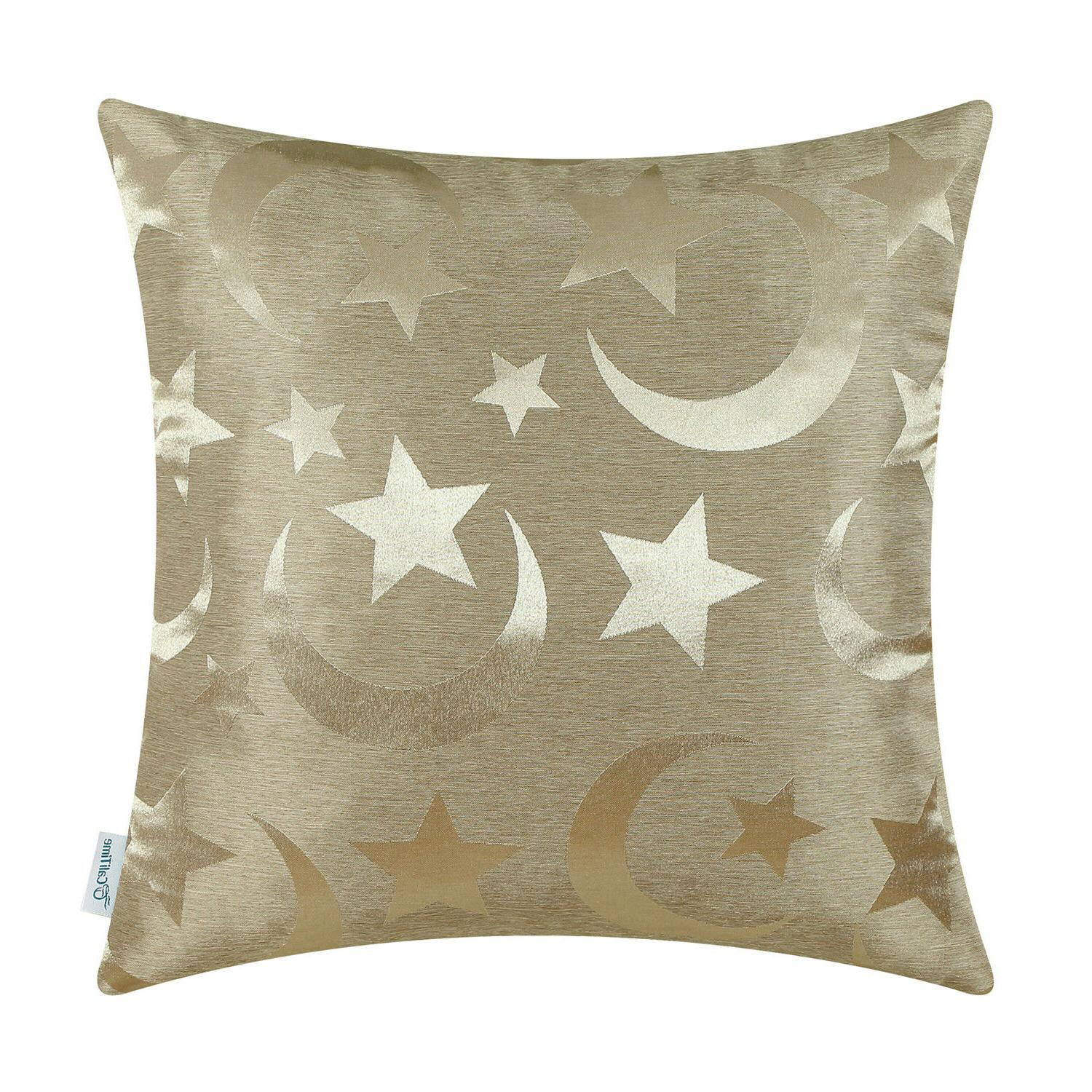 CaliTime Throw Pillow Cases for Home Decor Stars Moon