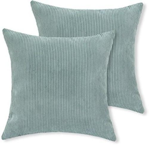 CaliTime Throw Pillow Cushion Covers , Soft Poly Corduroy, 1