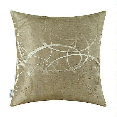 CaliTime Throw Pillows Covers Both Sides Rings Sofa Decor 20x20""