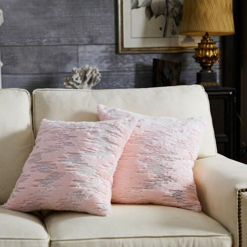 Throw Pillows Covers Fur Soft Home