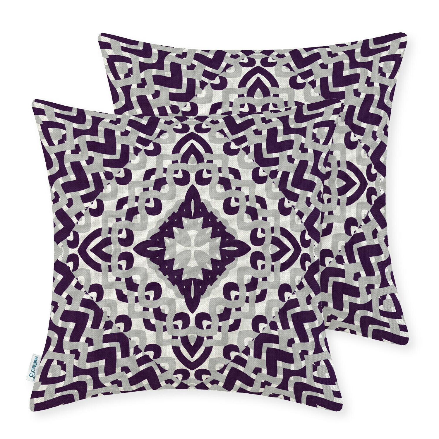 CaliTime Throw Cushion Geometric 18x18""